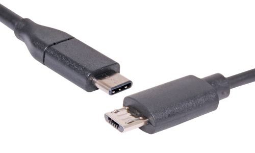 1m C Male to B Micro Male USB 2.0 Patch Lead