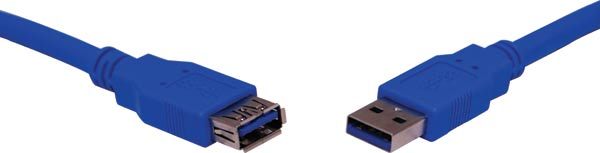 2m A Male to A Female USB 3.0 Patch Lead