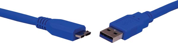 1m A Male to Micro B Male USB 3.0 Patch Lead