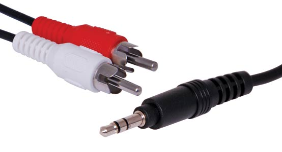 3m 3.5mm Stereo Plug to 2 RCA Male Lead