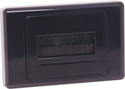 Flat Black Brush Entry Wallplate