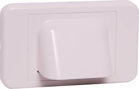 White Shovel Nose Wallplate