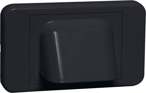 Black Shovel Nose Wallplate