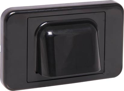 Black Slimline Shovel Nose Wallplate