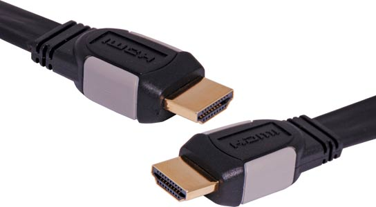 10m Flat High Speed HDMI with Ethernet Lead