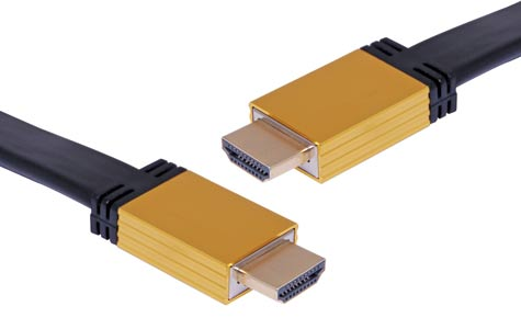5m Flat High Speed HDMI with Ethernet Lead