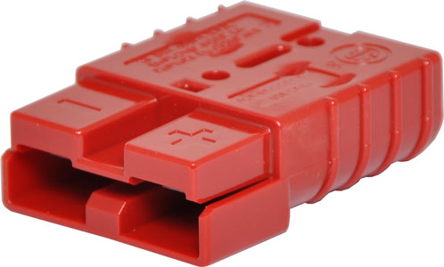 50A 600V Genuine Anderson Power High Current DC Connector Red