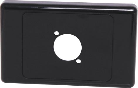 Black Wallplate For D Series Connector