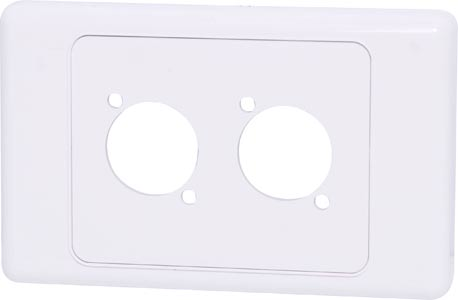 Wallplate For Dual D Series Connectors