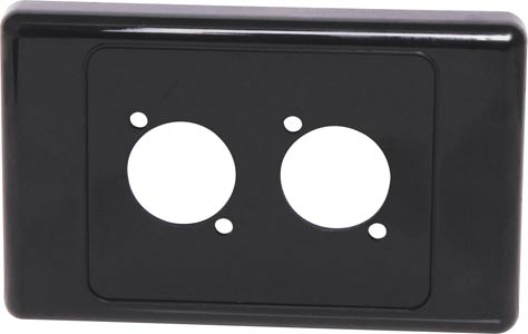 Black Wallplate For Dual D Series Connectors