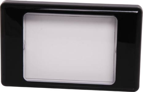 Altronics Clear/Black Dual Cover Blank Wallplate