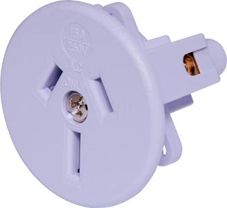3 Pin 15A Flush Mount Mains Socket (Side Wire Entry)