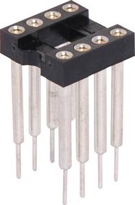 "8 Pin (0.3"") DIL Machined Pin IC Socket 15.3mm Pins"