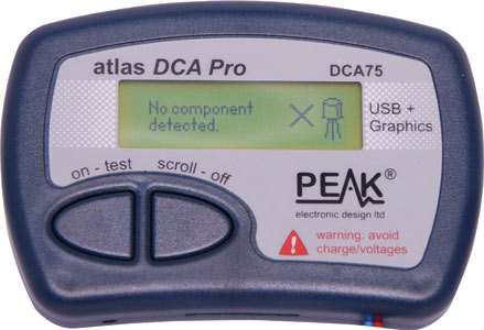 Peak USB Graphical Semiconductor Component Analyser