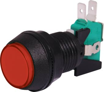 SPDT Momentary LED Red Panel Mount Pushbutton Switch