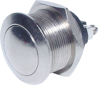 SPST Vandal Resistant Momentary Pushbutton Switch