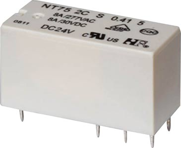 8A 24VDC DPDT PCB Mount Relay