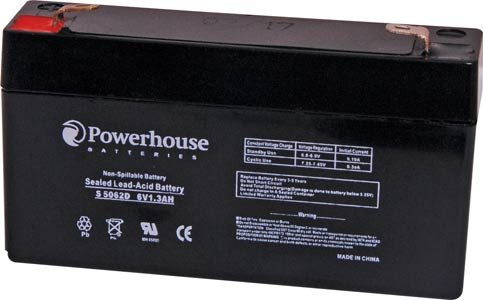 6V 12Ah Sealed Lead Acid (SLA) Battery