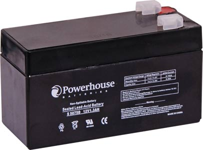 12V 1.3Ah Sealed Lead Acid (SLA) Battery