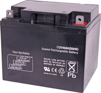 12V 40Ah Sealed Lead Acid (SLA) Battery