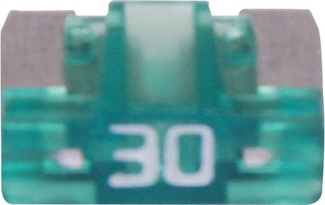 30A Green Low Profile Mini Blade Fuse