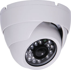 1080p AHD / 960H Vandal Resistant IP65 IR Colour Dome Camera