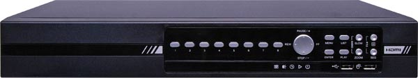 8 Ch. TVI Digital Video Recorder (DVR) with USB