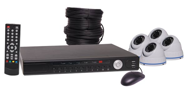 1080p AHD Real Time CCTV DVR And 4 Camera Dome Package