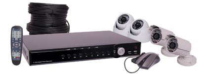 CCTV DVR And 4 Camera 2 Dome 2 Bullet Package