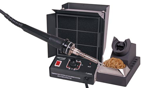 60W Soldering Iron + Fume Extractor 240V - Metal