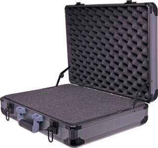 495x365x128mm Black Aluminium Laptop Case