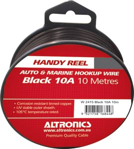 32/0.20 Black 10m Tinned Hook Up Handyman Cable Reel