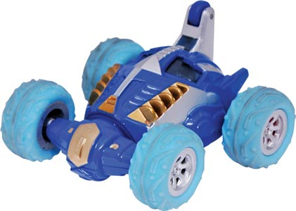 Blue and Gold Remote Control Stunt Car