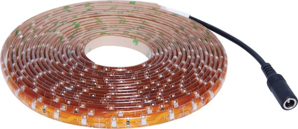 IP65 3528 Yellow 12 Volt LED Strip Light 5m