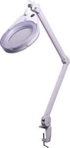 Inspect-A-Gadget LED Desk Mount Magnifier 5 Diopter
