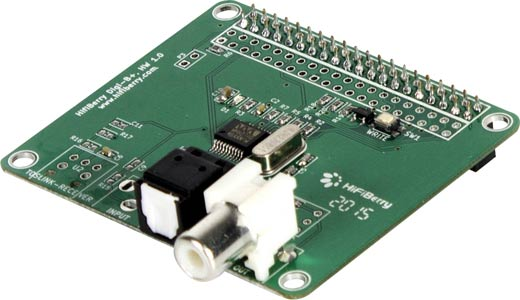 Hifiberry Digi+ Toslink Coaxial Module to suit Raspberry Pi